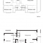 floor plan - before/after